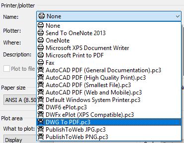 AutoCAD to PDF