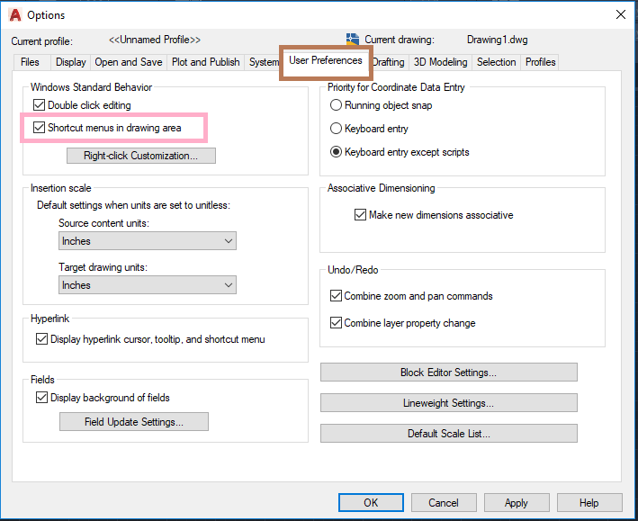Mouse Controls in AutoCAD