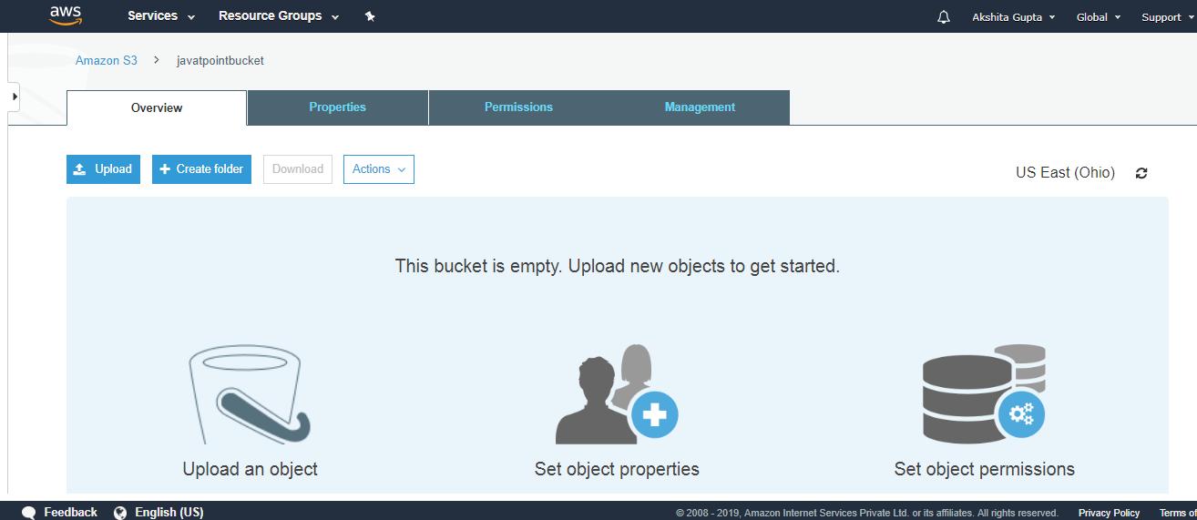 Creating an S3 Bucket