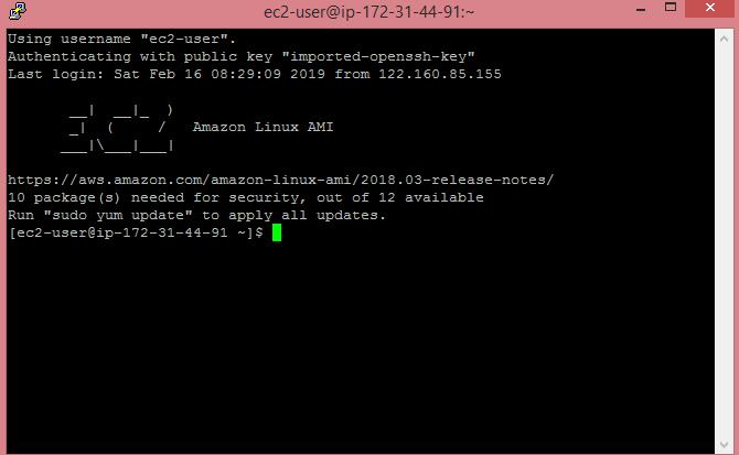 Creating an EC2 instance