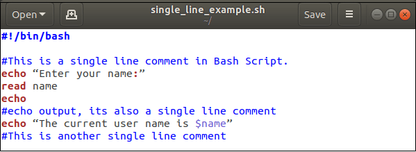 Bash Comments
