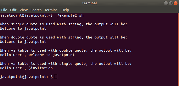 Quotes in Bash