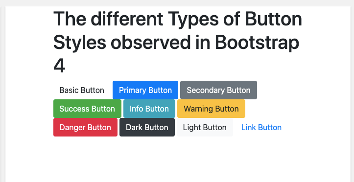 Bootstrap 4 - Buttons