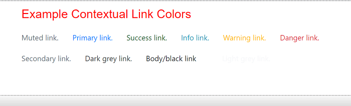 Bootstrap 4 colors