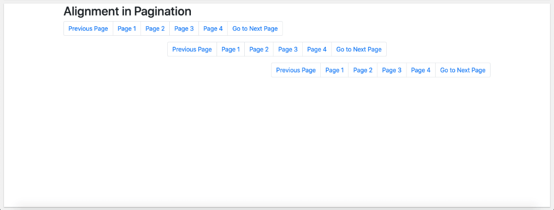 Bootstrap 4 Pagination