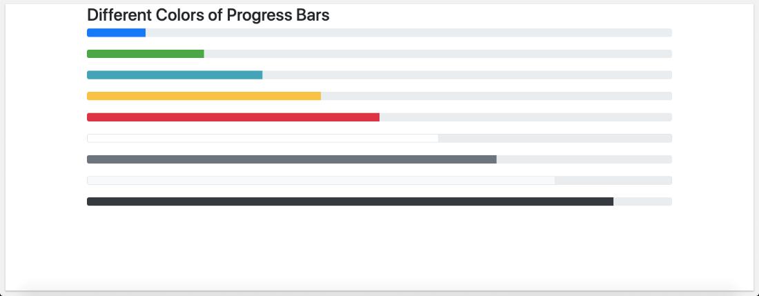 Bootstrap 4 Progress Bars