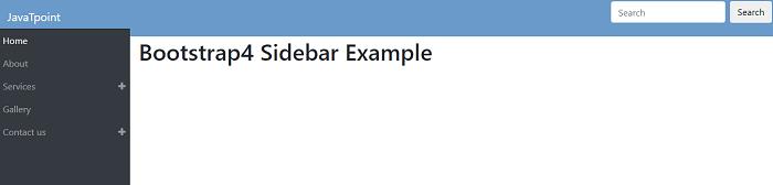 Bootstrap 4 Sidebar