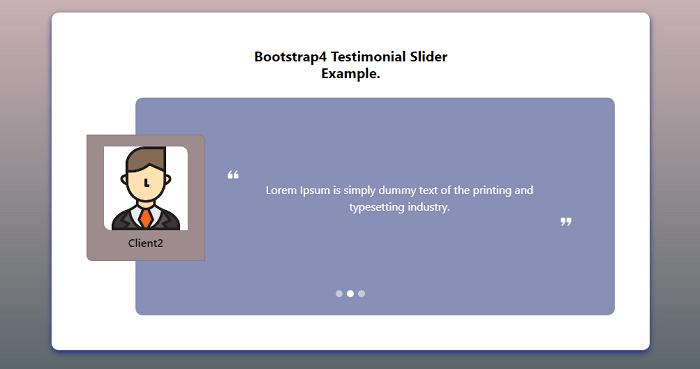 Bootstrap 4 testimonial slider