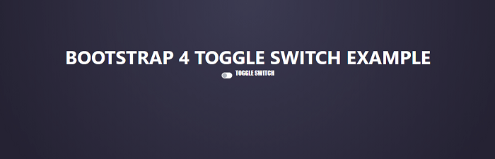 Bootstrap 4 toggle switch