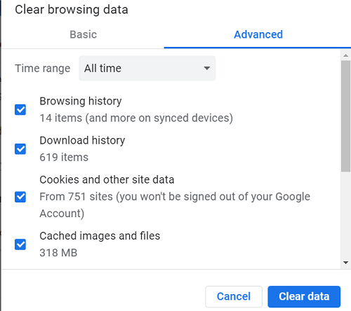 How to delete cookies on Chrome