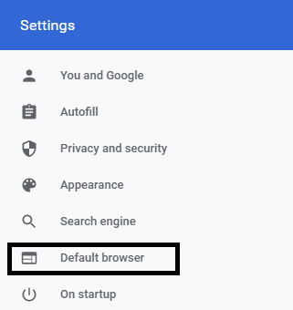 How to set Chrome as default browser