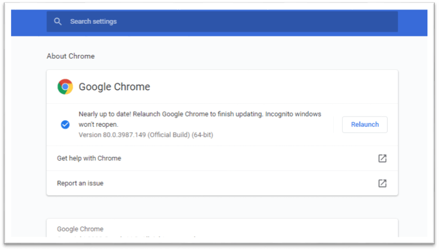 How to update Google chrome?