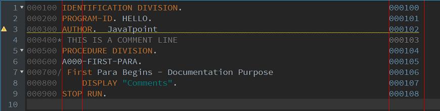 COBOL Coding Sheet