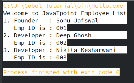 COBOL Divisions