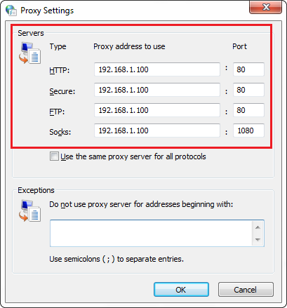 How to set up and use a proxy server