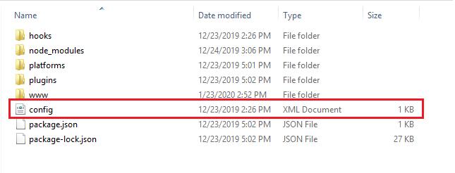 Config.xml file