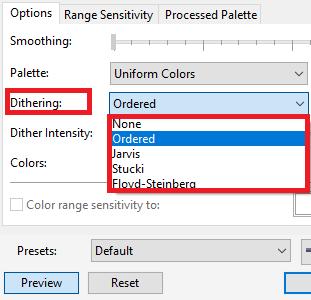 CorelDRAW:color modes of bitmaps