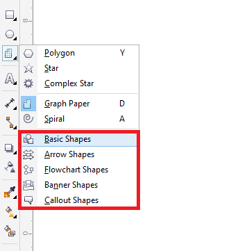 CorelDRAW Drawing Shapes