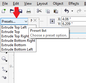 Inserting 3D effects in Objects