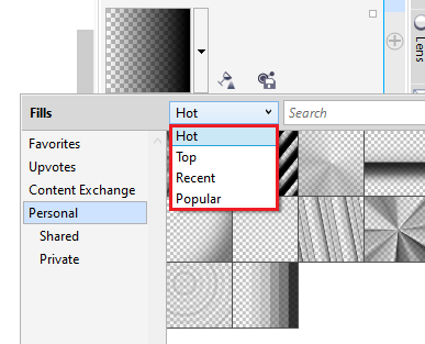 CorelDRAW: Sharing and Managing Transparency and Fills