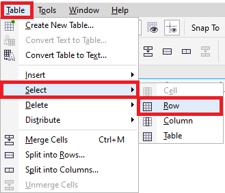 CorelDRAW: Tables