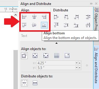 CorelDRAW Usage of Objects