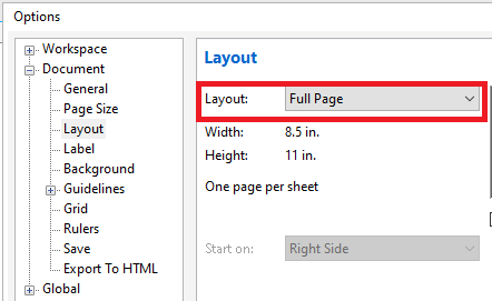CorelDRAW Working with layout and pages tools