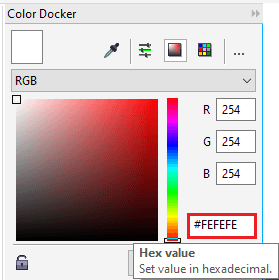CorelDRAW Working with various Colors
