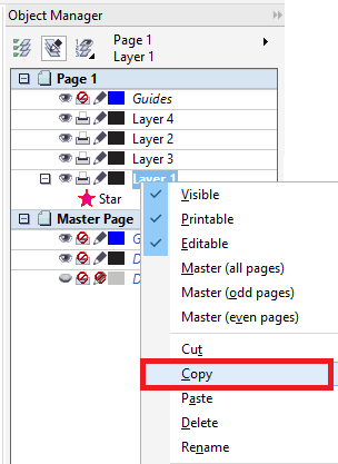 CorelDRAW Working With various layers