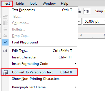 Manipulating and adding text in CorelDraw