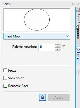 Objects with Lenses in CorelDraw