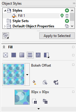 Style sets and styles in CorelDraw