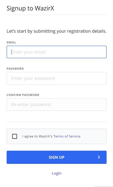 How to Open WazirX Account