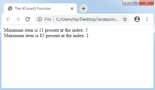 Array API in D3.js