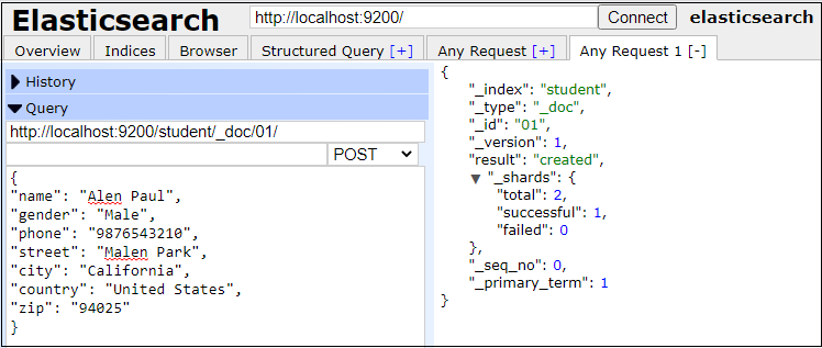 Elasticsearch Populate