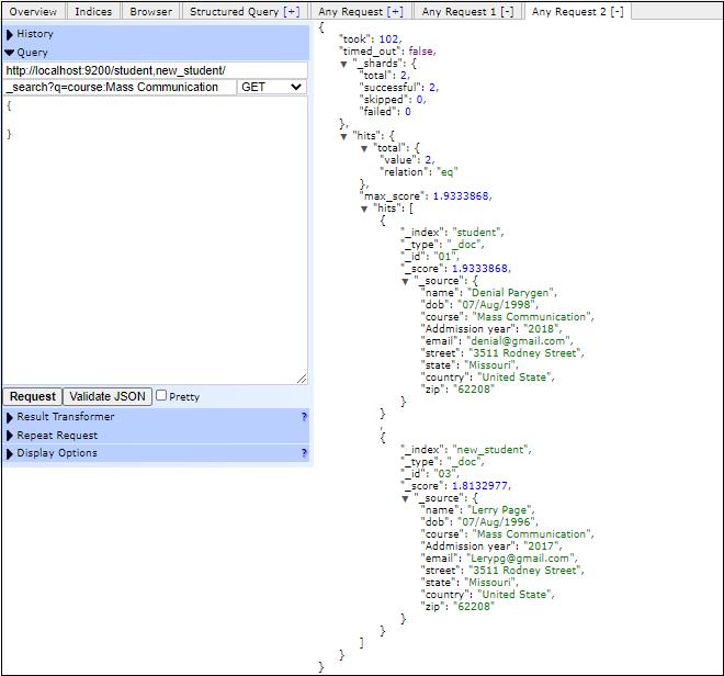 Elasticsearch Aggregation APIs