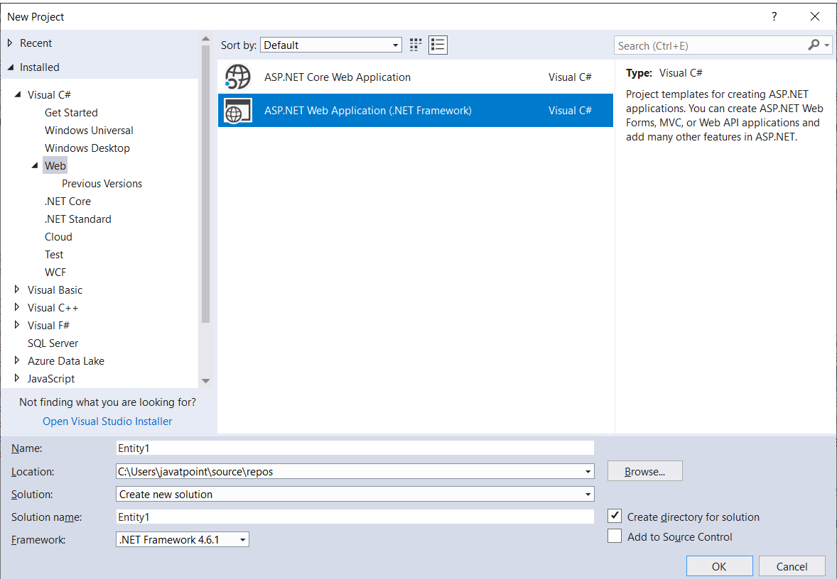 Database-First Approach in Entity Framework