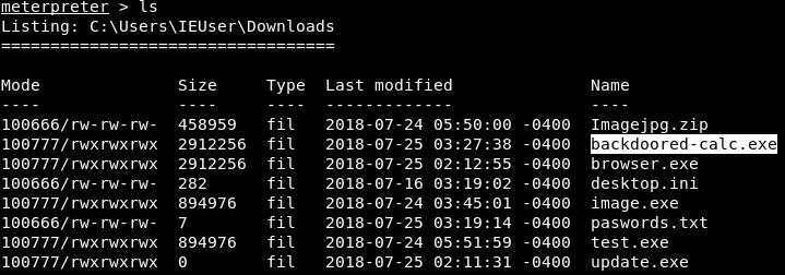 Filesystem commands