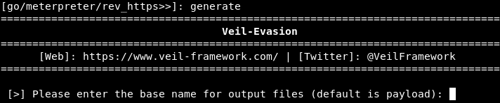 Generating a Veil backdoor