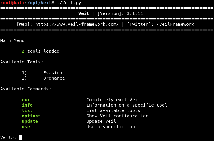 Ethical Hacking | Installing Veil - javatpoint