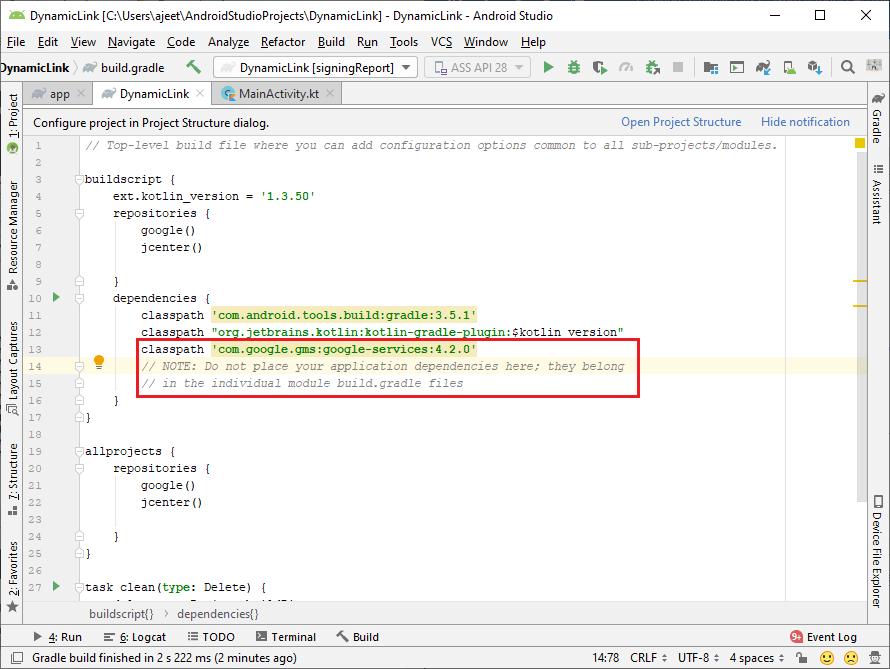 Firebase Creating Dynamic Link