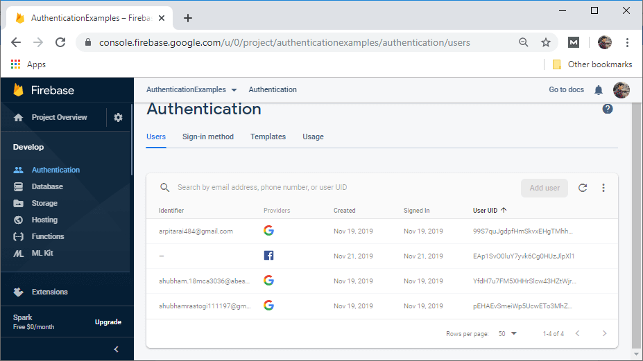 Firebase: Facebook Sign-In Authentication