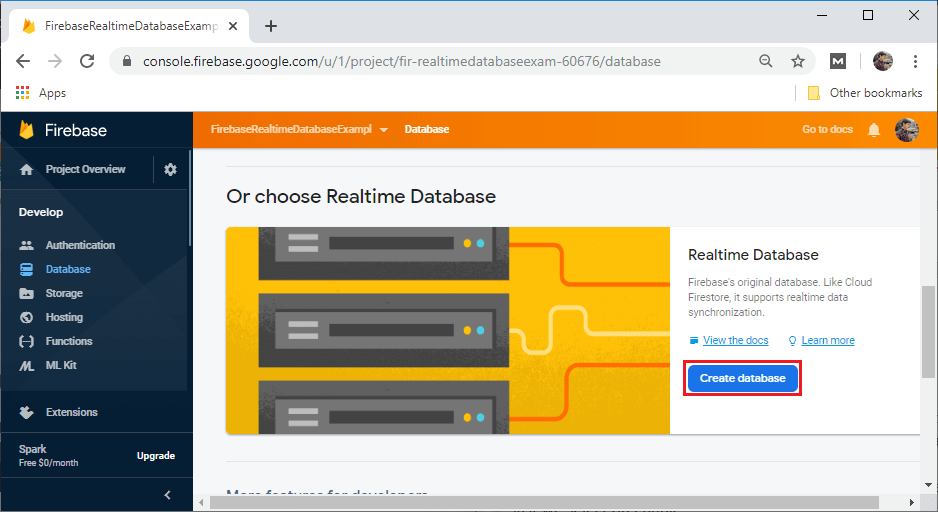 Firebase: Real-time database setup and configuration