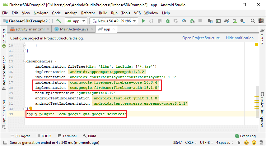 Firebase SDK Authentication using the email link