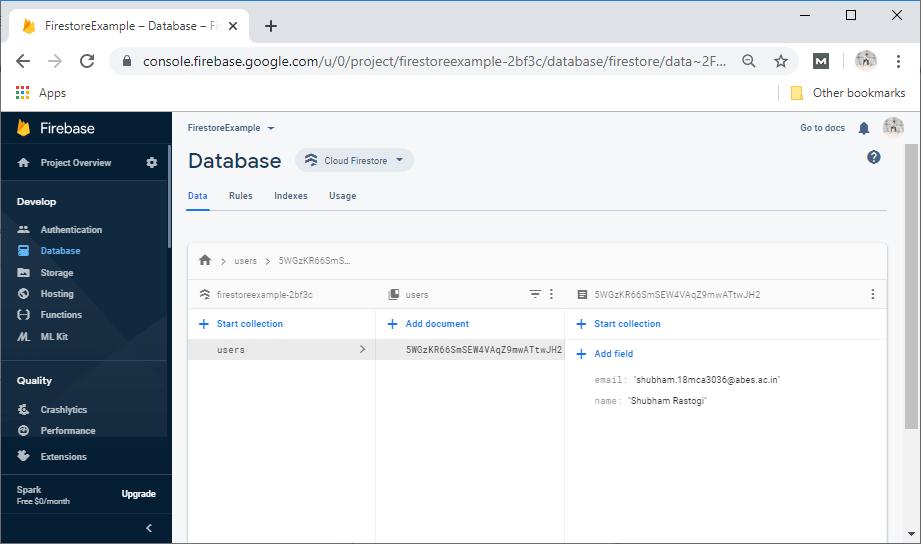 Update and Delete in Firestore