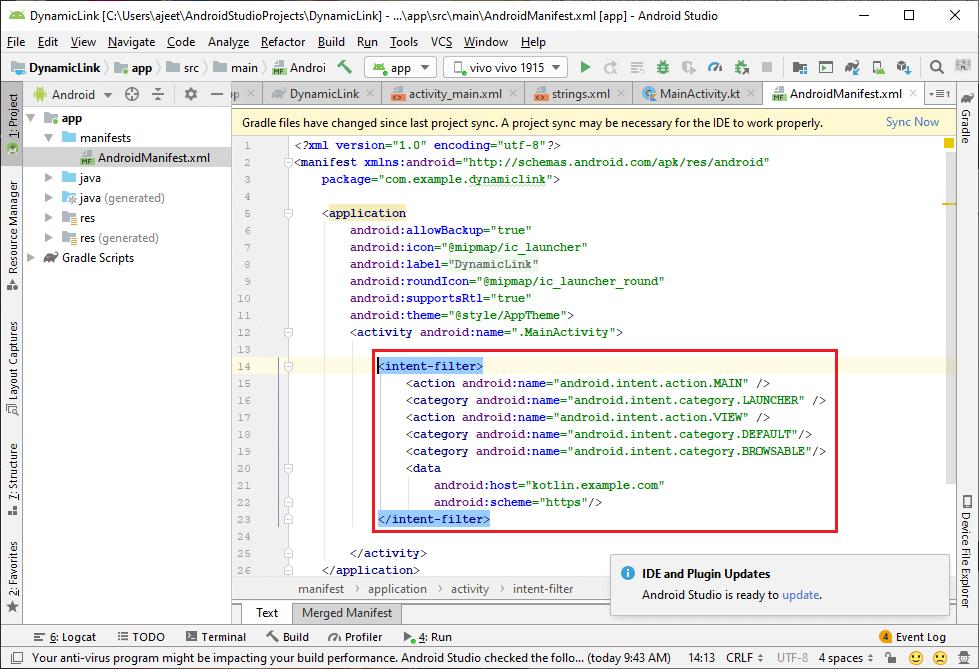 Receiving Dynamic Links in Firebase