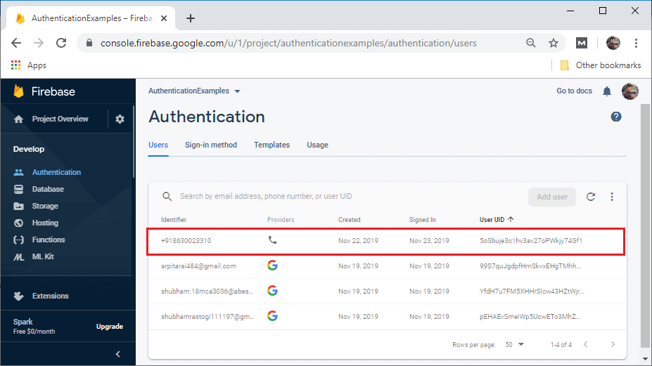 Sign-In Authentication Using Phone Number