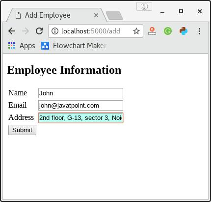 Flask SQLite - Javatpoint