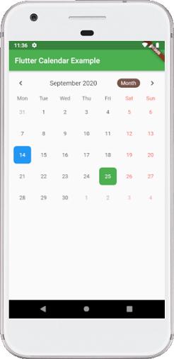 Flutter Calendar
