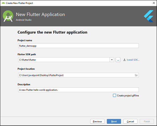 Flutter First Application